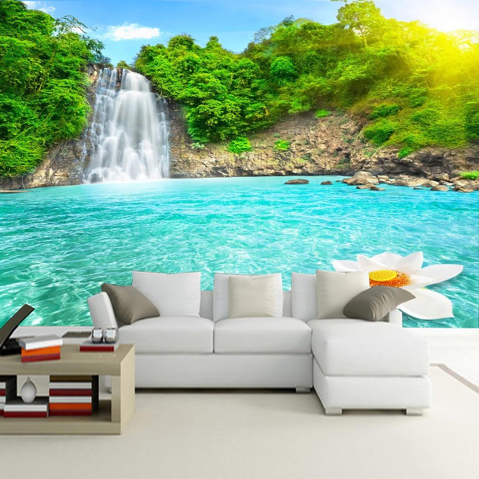 Hd Wallpaper Of Nature: Φ_ΦHigh Quality Custom Mural Wallpaper Living Room 3D HD