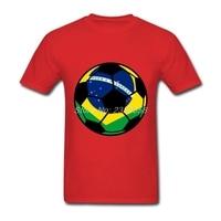 Lüks Marka Erkekler t shirt Slim Fit Brezilyalı Footbal' Bayrağı Tee Kişilik Kısa Kollu Erkek T Shirt XS, S, M, L, XL, 2XL, 3XL
