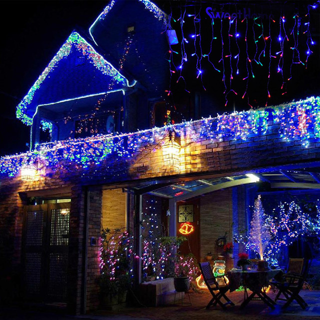 gqmml 20cm 10led meteor shower rain tubes christmas lights 100 240v outdoor holiday lamp new