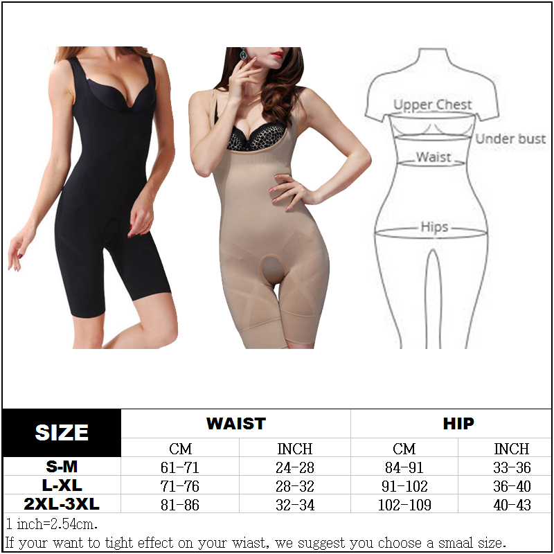 Women Full Body Waist Trainer Shaper Underbust Corset Cincher Shapewear Bodysuit