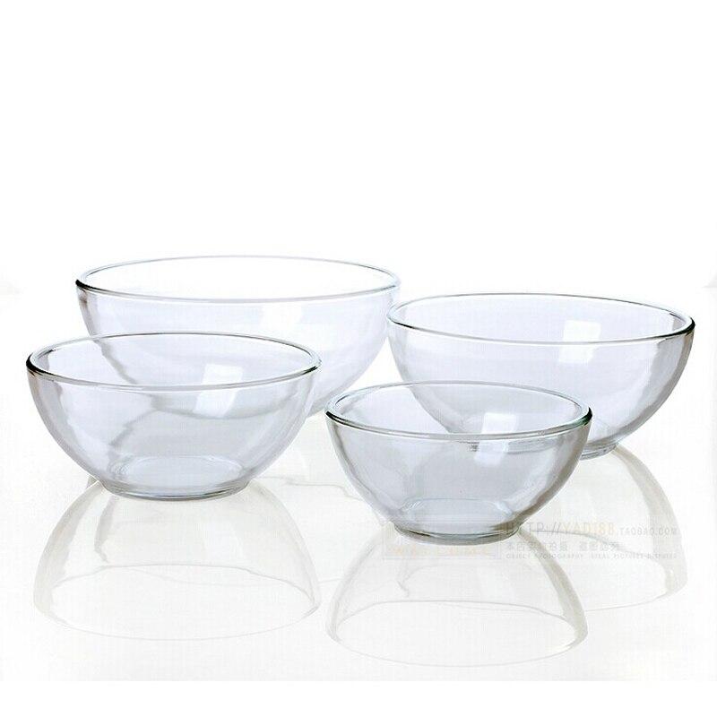 inicio cristal de vidrio tazn de microondas vajilla ensaladera recipiente redondo de arroz trajes en de hogar y jardn en