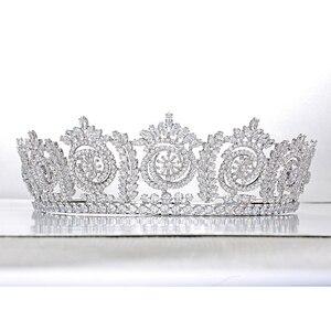 Image 4 - Tiaras And Crowns Fashion Elegant Bridal Crowns For Women Wedding Gift Hair Accessories BC4847 Hair Jewelry Corona Princesa