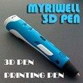 Regalo creativo 1.75mm ABS/PLA DIY 3D Pluma Impresión 3D Pluma fabricante de + 10 M Filamento + Adaptador de la Pluma de Impresión 3D Para Niños de Diseño dibujo