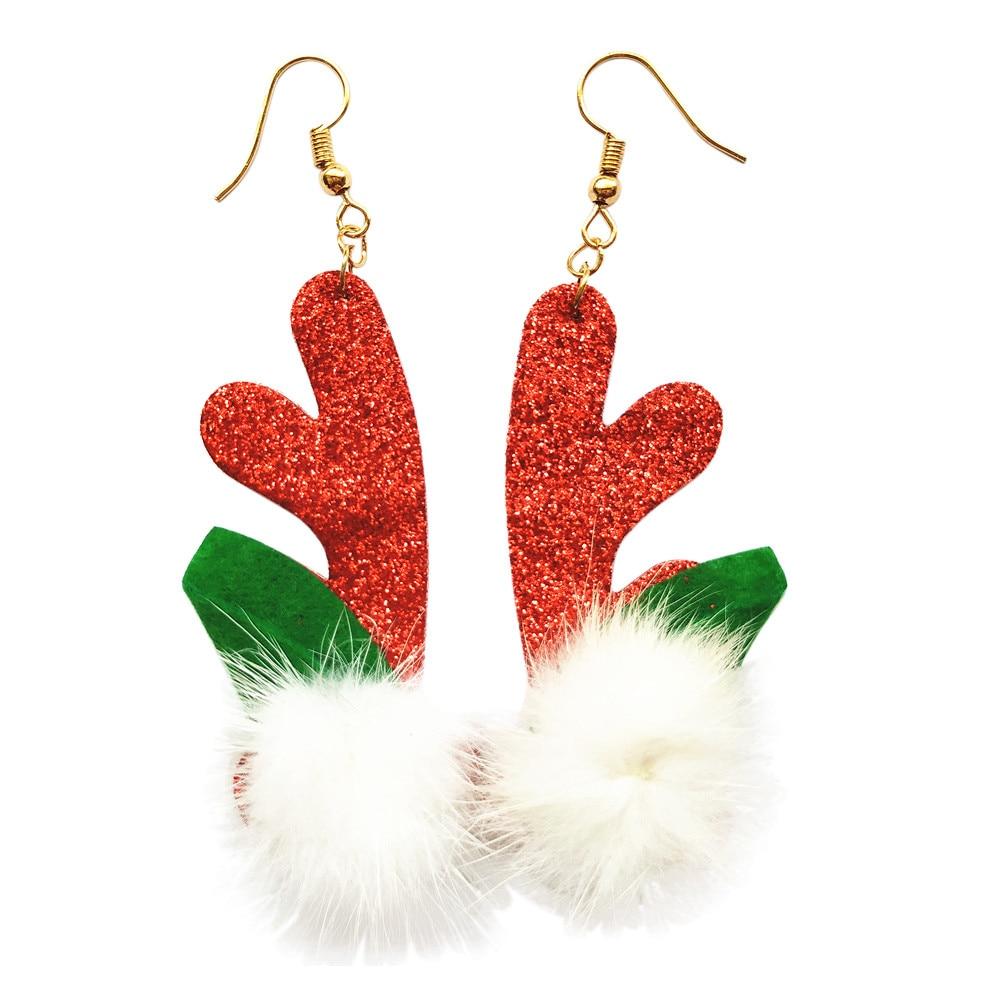 1 Pair Jewelry Christmas Earrings Women Drop Dangle Earrings Year 108