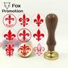 Custom Fleur De Lis La Flor De Lis Initial Wax Stamp Wood Handle DIY Ancient Seal