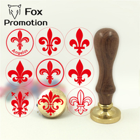 Custom Fleur De Lis La Flor De Lis Initial Wax Stamp Wood Handle DIY Ancient Seal