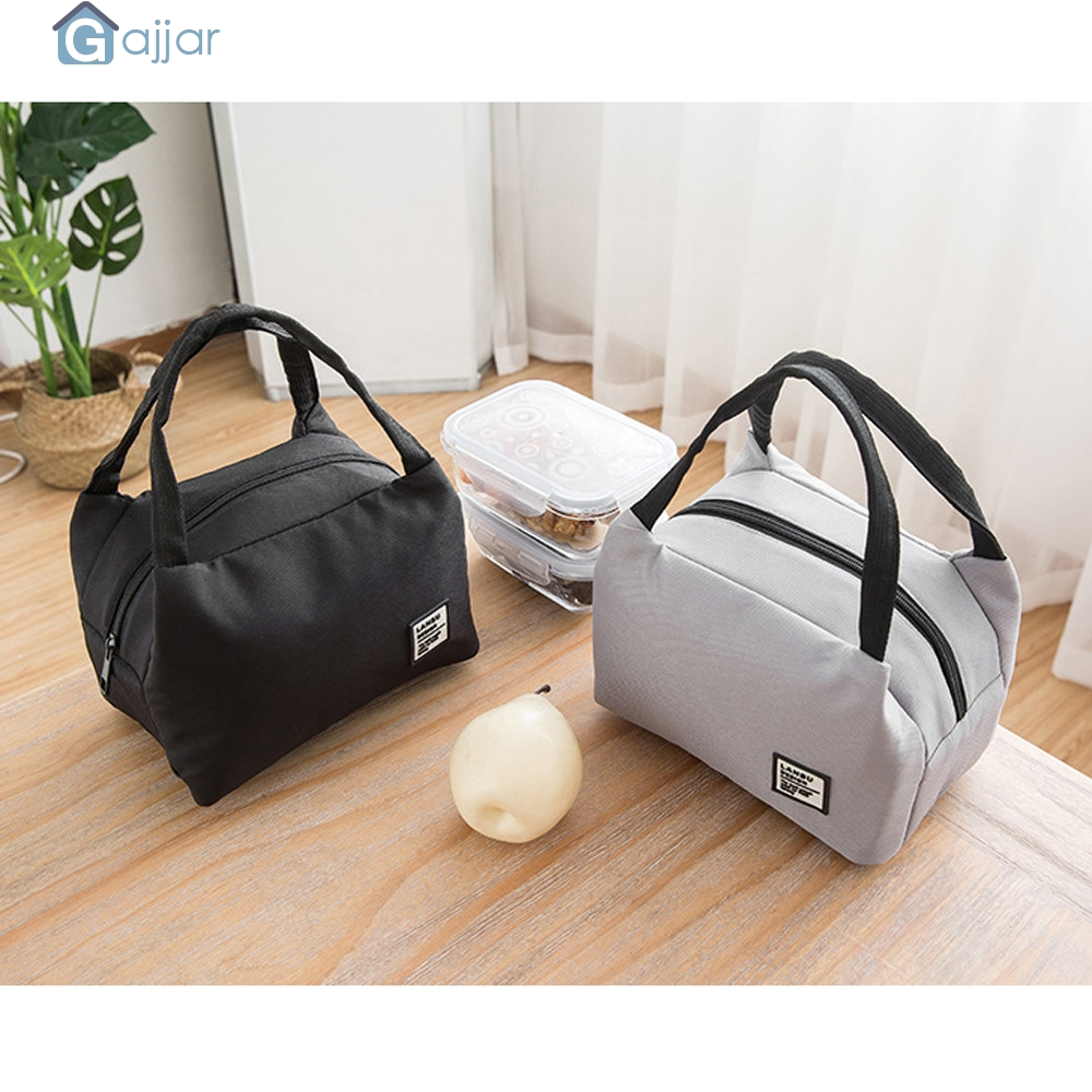 Tote Cooler Handbag Canvas-Box Lunch-Bags Kids Food for Women Insulated 19MAY29 Carry