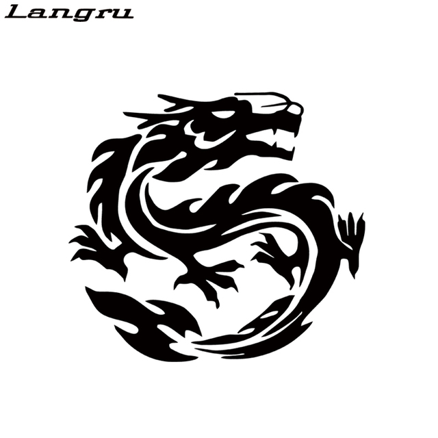 Langru car stying chinese dragon car stickers windshield decal car body decals bumper stickers jdm
