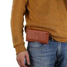 Кора зерна Belt Clip Leather Case 4 дюймов для iPhone SE 5 5S 5C SE Телефон карманы Стенд Висит карманы пояс носить флип наборы
