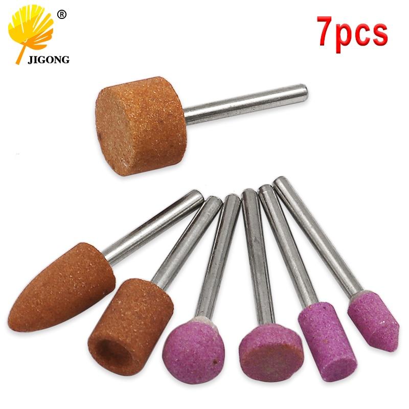 7 unids/set piedra de montaje abrasiva para dremel herramientas rotativas de rueda de piedra cabeza herramientas dremel Accesorios
