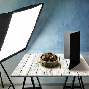 Image 4 - 60x60cm Retro Wood Board Texture Photography Background Backdrop Cloth Studio Video Photo Backgrounds Props For Food