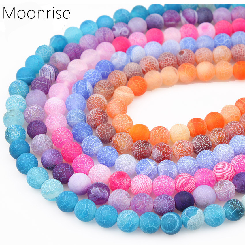 4 6 8 10 12mm Natural Stone Beads Frosted Weathered Agate Loose Beads Round Gemstone Bead For Jewelry Making HK045 bead roller for jewelry making perfect polymer clay beads rectangle transparent 10 2x6 4x1 9cm 2 sets b23360 yiwu
