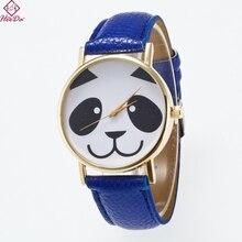 Heeda корейский милый Панда часы Мода Мультфильм дети браслет 2018 Новый Простой Кожа рук ювелирные изделия Аксессуары для Для женщин человек