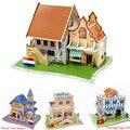 3D Puzzles Dimensional Children Puzzle Paper Model Children's Educational Toys for Kids Puzzle Castle House