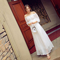 2016 Women Summer Bohemian Style Long Chiffon Dress Ladies Pregnant Maternity Dresses Big Swing  Dress Strapless New