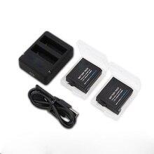 Nouveau batterie pour Gopro hero 4 go pro hero4 gopro4 2 pcs batterie + Chargeur + Câble USB