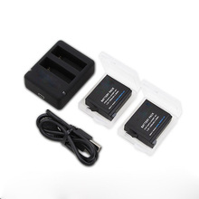 New battery for Gopro hero 4 go pro hero4 gopro4 2 pcs battery + Charger + USB Cable