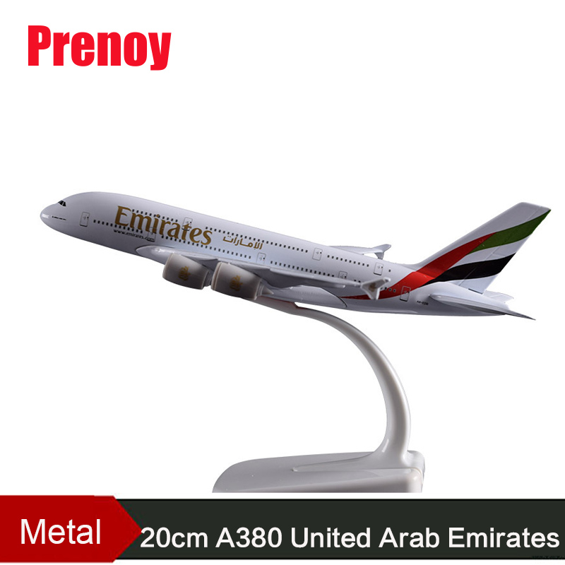 20CM A380 United Arab Emirates Aircraft Model Emirates A380 Metal Airplane Airbus Aviation Model Travel Art Collection Adult Toy electric air bus model toys moving flashing led light sounds kids toy assembling aircraft children gift a380 airbus music toy