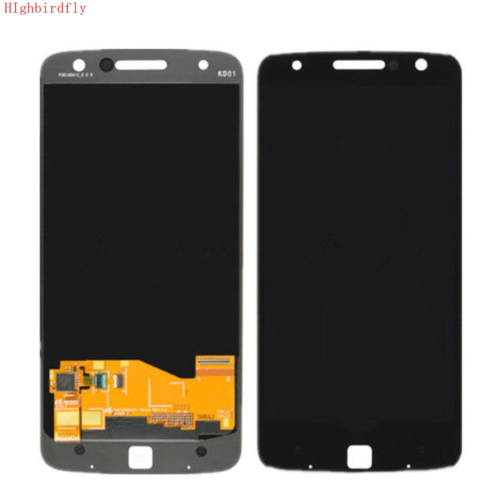 Highbirdfly For Motorola moto Z Droid Xt1650 XT1650-03 Lcd Screen+Touch Glass Digitizer Assembly Repair Display