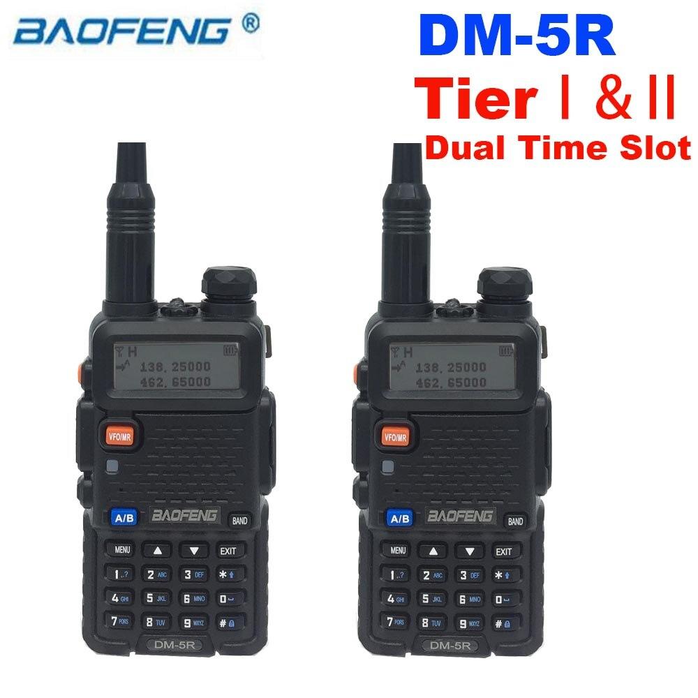 Baofeng DM-5R DMR Tier II Digital Two Way Radio VHF UHF Walkie Talkie 2000mAh