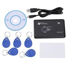 Lecteur de cartes EM RFID, 125 KHz, copieur et écrivain, avec étiquette clé + carte T5577 en 5 pièces EM4305, pour contrôle daccès, sécurité à domicile