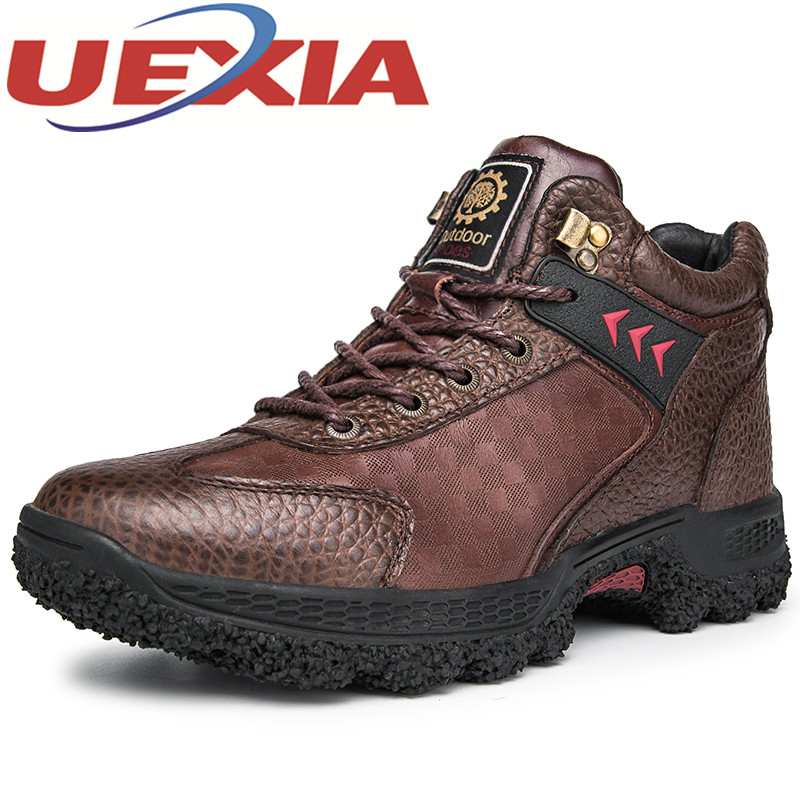 Plus Size 45 Winter High Top Cotton Sneaker Shoes For Men Outdoor Warm Ankle Plush Boots Hiking Shoes Botas Hombre Mountain Shoe new women hiking shoes outdoor sports shoes winter warm sneakers women mountain high tops ankle plush zapatillas camping shoes