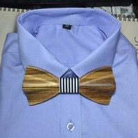 New Top Fashion 8 Design De Madeira sólida dos homens do laço bowtie mulheres STARS AMA