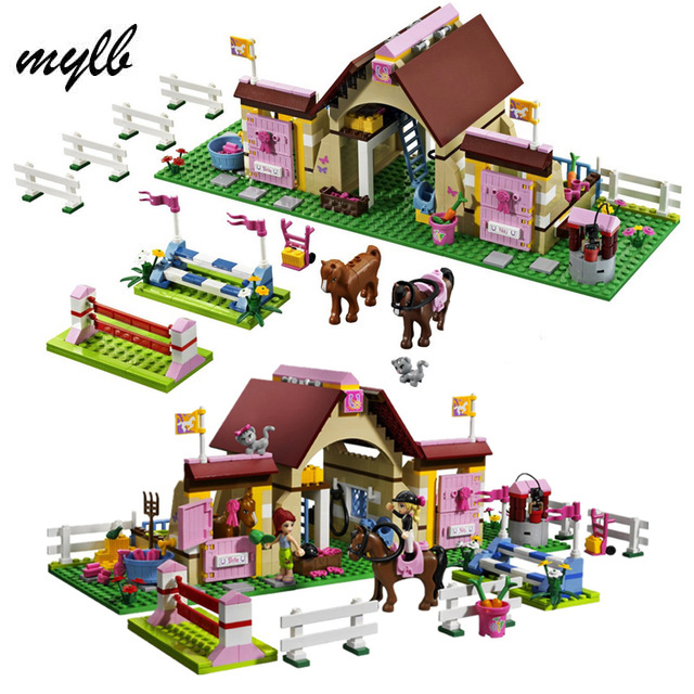 mylb Friends  Heartlake Stables Girls Mia's Farm Building Blocks 400pcs/set Bricks toys educational toys Gifts drop shipping смесь семян для хомяков friends farm 700г