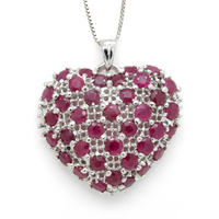 2017 Limited Collares Qi Xuan_Red Stone Heart Pendant Necklaces_Real Necklaces_Quality Guaranteed_Manufacturer Directly Sale