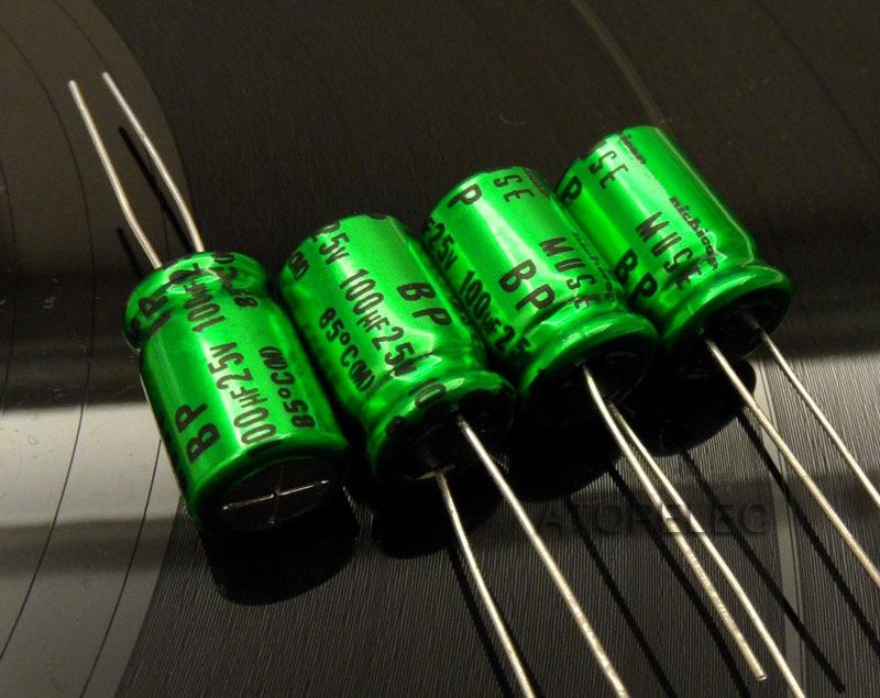 10pcs Original Nichicon MUSE KZ 100uF//25V Top audio electrolyte capacitor