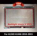 """Probado Para Macbook Air 13 """"A1466 A1369 LED franja de luz de fondo con pantalla lcd de vuelta láminas reflectantes traseros 100% de Trabajo"""