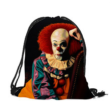 Exclusive Horror Movie Jason Freddy Drawstring Backpack Newest Vintage College Students School Drawstring bag Mochila Sack Bag(China)