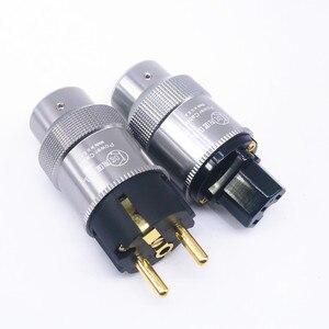 Image 4 - Par de krell de alta qualidade banhados à ouro, tomada de energia cei, conector de áudio hi end, cabo de energia ac, para audiofil cabo de rede diy