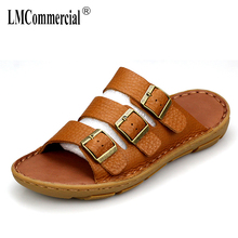 summer sandals Sneakers Men Slippers Flip Flops casual Shoes beach outdoor anti-skid all-match cowhide mens flip flop sandals mens anti skid sandals fender summer men genuine leather slippers cowhide sneakers men flip flops casual shoes beach outdoor