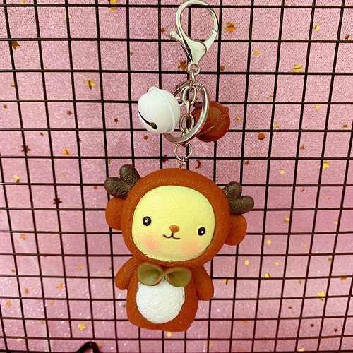 Animal dos desenhos animados Coelho Bonito Chaveiro Mulheres Bolsa Meninas Saco Chave Anéis Acessórios Pingente de Coelho Bugigangas Carro Chaveiro Atacado