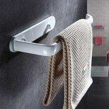 Держатель для полотенец алюминиевый черный/белый держатель для полотенец для ванной комнаты вешалка для полотенец Полка для хранения короткая вешалка для полотенец аксессуары для ванной комнаты вешалка для полотенец