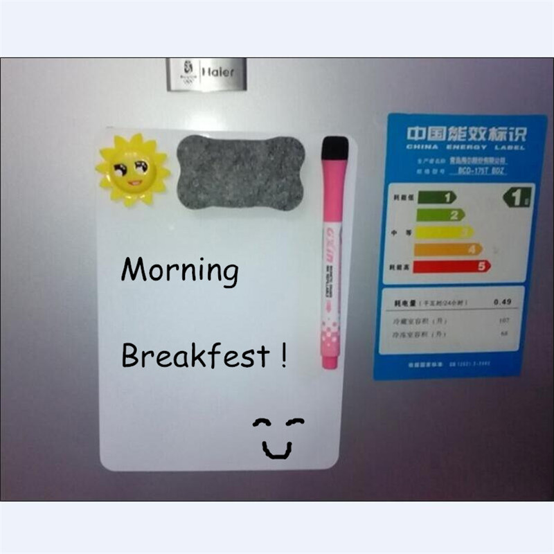 a4 flexible magnetic writing board with erase marker set high quality fridge magnet removable home message
