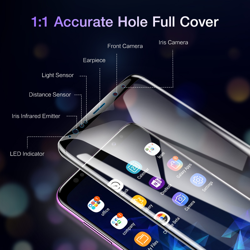 Image 4 - FLOVEME Full Cover Screen Protector for Samsung Galaxy S10 S8 S9 S10 Plus S10e Note 8 9 3D Curved Soft Protective Film Not Glass-in Phone Screen Protectors from Cellphones & Telecommunications on