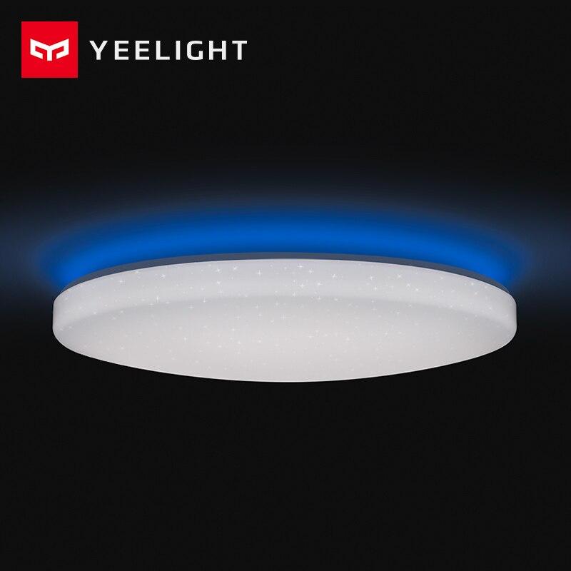 2019 새로운 원본 xiao mi yeelight 똑똑한 천장 빛 램프 먼 mi app wifi bluetooth 통제 똑똑한 led 색깔 ip60 방진