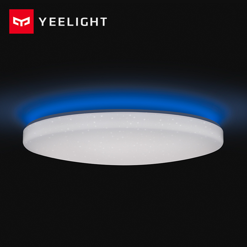 2019 nuevo Original Xiaomi Yeelight lámpara de techo inteligente remoto mi APP WIFI Bluetooth Control inteligente LED Color IP60 a prueba de polvo