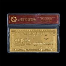 1961 г., Саудовская Аравия, 100 риялов, чистое золото, Банкнота с COA, деловой подарок в пластиковой рамке