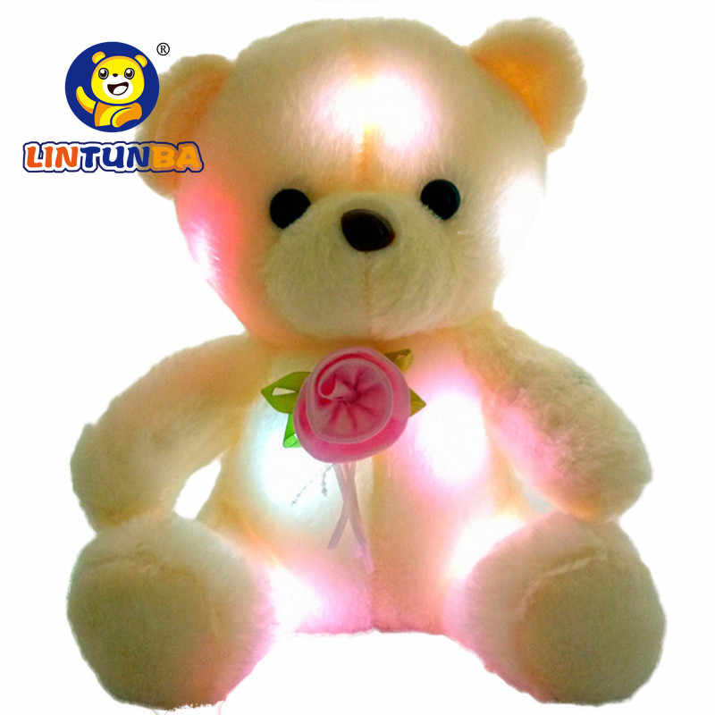 BSTAOFY ドロップシッピング 20 センチメートル LED カラフルなグローイングルミナスぬいぐるみ赤ちゃんのおもちゃ照明ぬいぐるみクマテディベアラブリーギフト