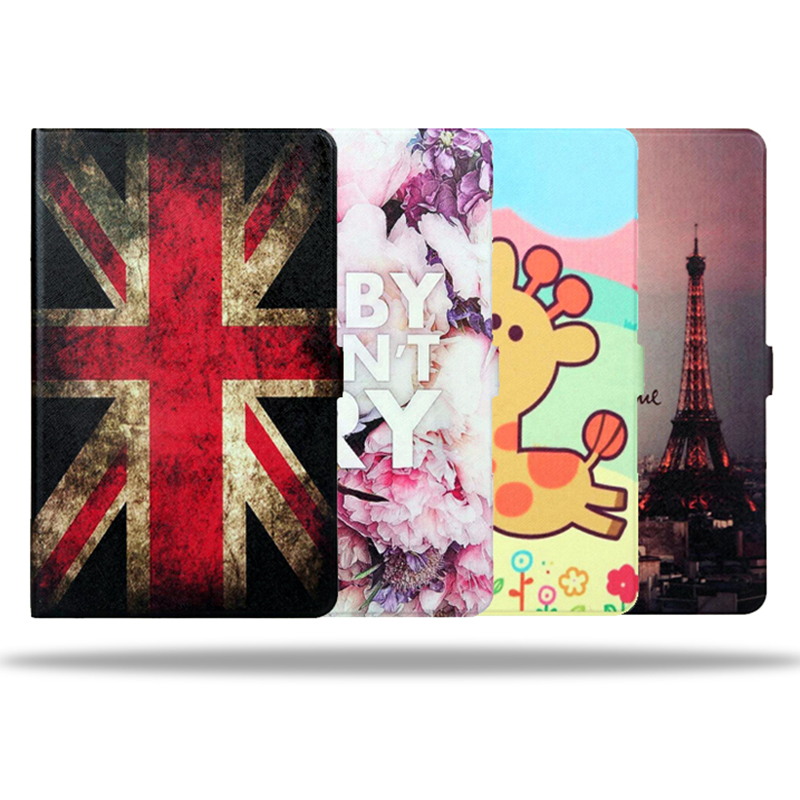 Fashion Painted Leather case for Samsung Tab E 9.6 Stand Function PU Leather Cover for Samsung Galaxy Tab E 9.6 T560 T561