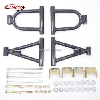 Juego de piezas para Buggy, suspensión delantera de 195mm, brazo oscilante superior/inferior A brazo de bricolaje de 4 CC, 50cc, 110cc, ATV, 4 ruedas, Quad Bike, Go Kart