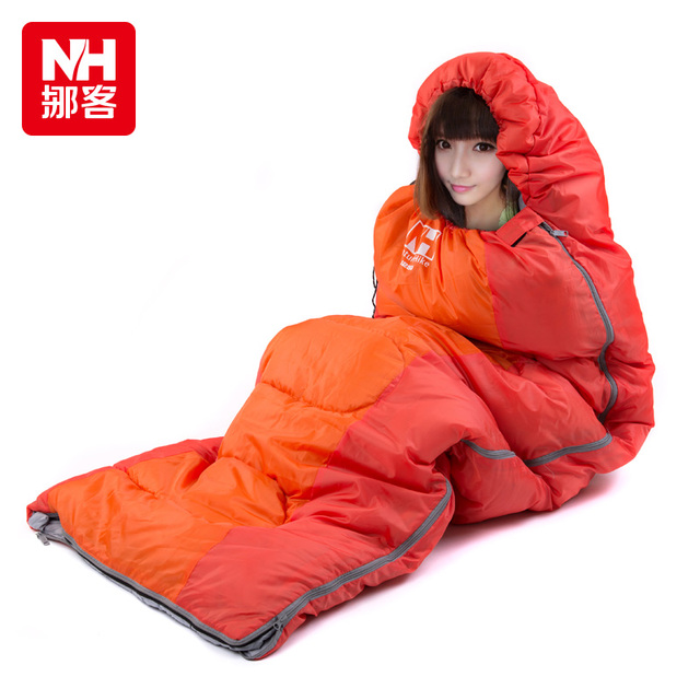 Nh15s009 D Outdoor Envelope Cotton Heat Preservation 3 Season Camping Single Sleeping Bag