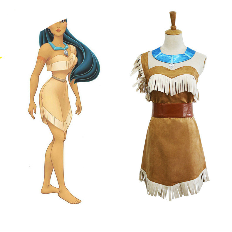 adult Indian Cosplay costumes for women halloween costumes for women plus size  Girls Bueaty sexy Princess pocahontas costume