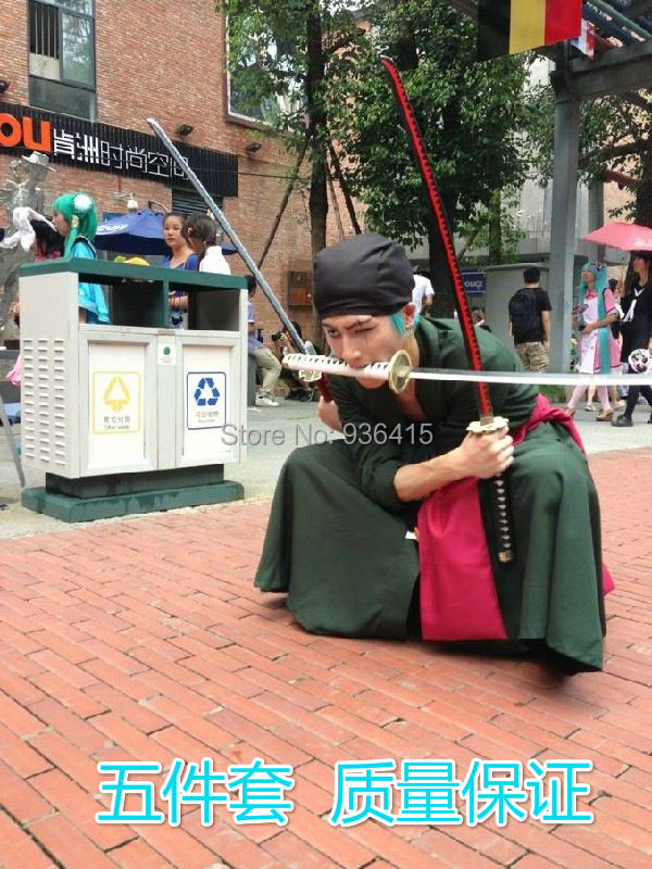 ONE PIECE Roronoa Zoro cosplay clothes after two years the cosplay men's clothing jacket pants belt girdle headscarf