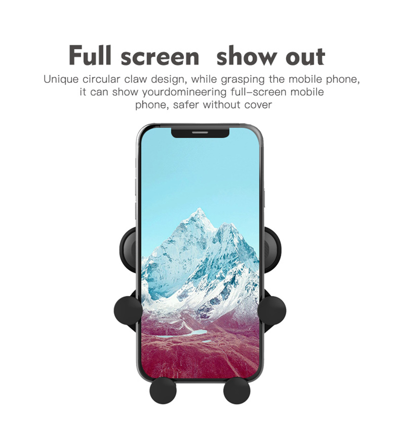04Creative Car Mount Five-Point Mobile Phone Holder