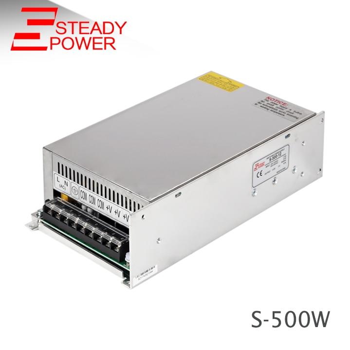 500 W sortie unique ac dc commutation modèle 12 V 40 Amp alimentation 500 Watts 12 Volts 40A led bande lumière pilote S-500-12