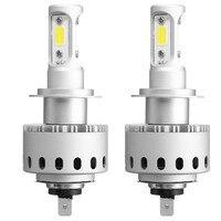 2PCS 45W 6000LM H4 H7 H11 9005 9006 COB LED Car Headlight Bulb Kit Waterproof IP65